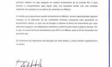 Se pospone el lanzamiento del WII U en México